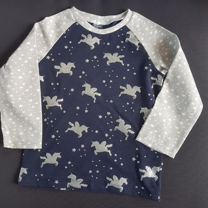 Glittery Unicorn Top Size1