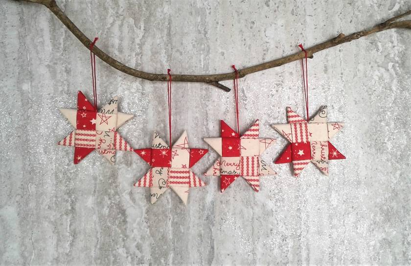 Fabric Christmas Stars (4)