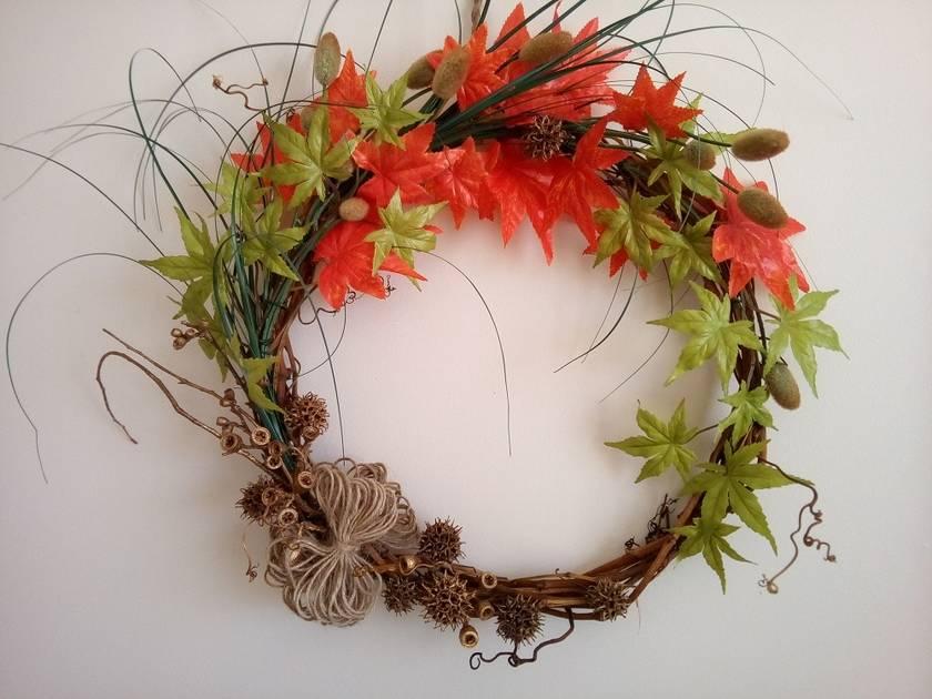 Door or Wall Autumn Wreath