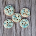 5 Stoneware Flower Buttons