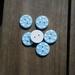6 Dotty Blue Buttons