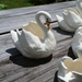 Ceramic Swan Vessel / Posy Vase. Large.