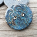4 Tenmoku-blue Embossed Buttons