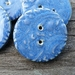 5 Beautiful Blue Stoneware Buttons