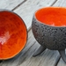 """Autumn leaves"" Tripod Lava Bowl - red/ orange"