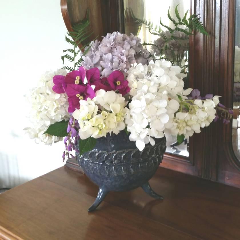 Large Tripod Rose Bowl / Vase
