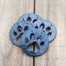 Ceramic Dog Paw Coasters - Beautifully Blue