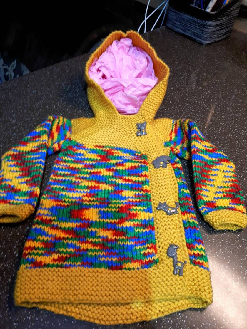 02f950568f9 HOODED BABY SWEATER (6 - 9 months)