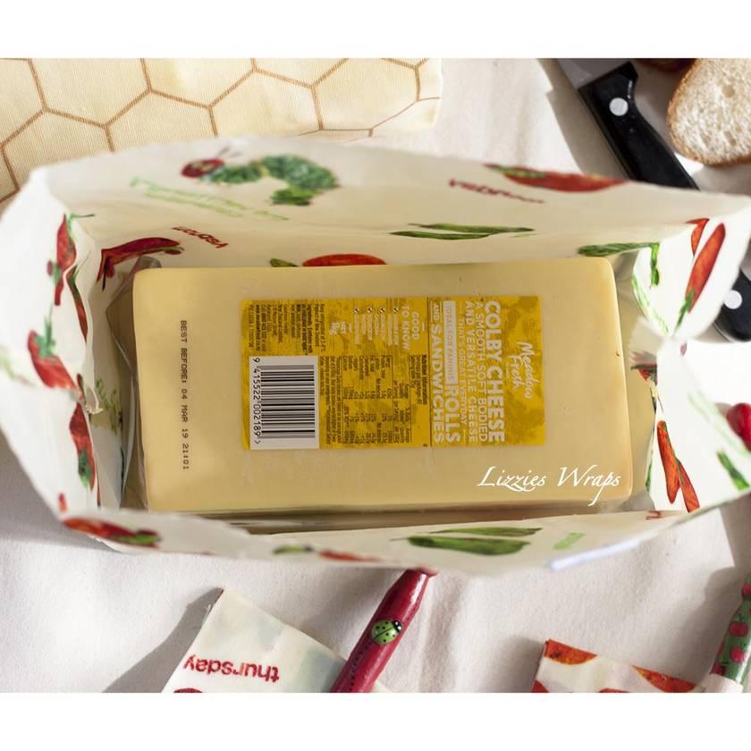 Beeswax Cheese Bag
