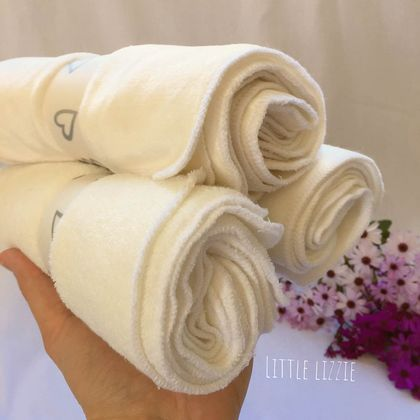 Organic Bamboo and Cotton reusable wipes x8