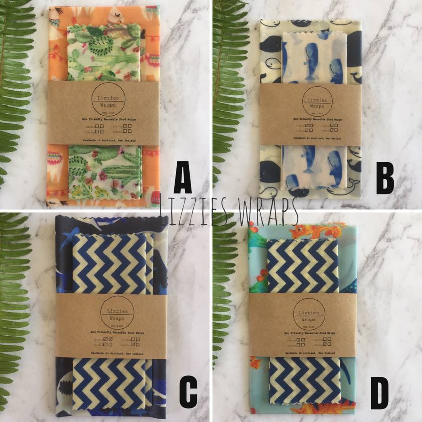 Beeswax Wraps Lunch Pack