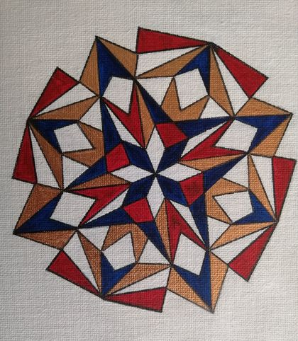 3 Geometric Patterns on Canvas