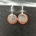 Sterling silver & copper disc earrings