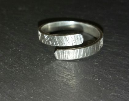 Sterling Silver wrap textured ring