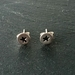 Sterling Silver Star stamped stud earrings