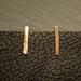 Copper little stick earrings