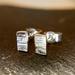 Textured Sterling Silver stud earrings