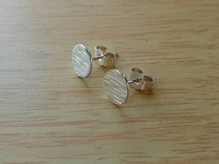 Sterling Silver Textured Studs