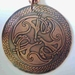 Celtic Copper Hawks Pendant 50 mm