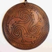 Celtic Copper Lizards Pendant 70 mm