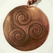 Celtic Copper Triskele 50 mm Necklace