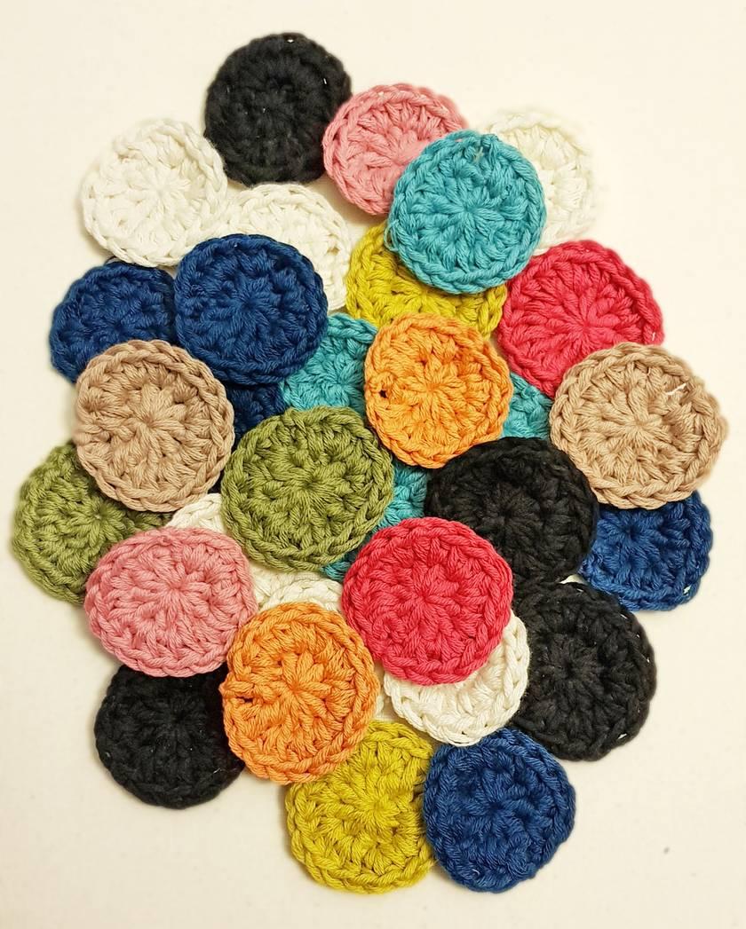 100% Organic Cotton - Reusable Makeup Remover Pads - Set of 4