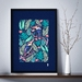 A3 Exotic Kingfishers — Fine Art Giclee Print