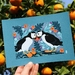 A5 Scottish Puffins in Love — Fine Art Giclee Print