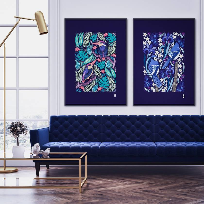 2 x A1 Fine Art Giclee Prints of your choice