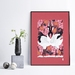 A3 Japanese Cranes Love Dance in Spring — Fine Art Giclee Print
