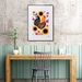 A2 Rooster & Wildflowers — Fine Art Giclee Print