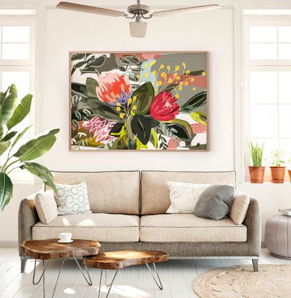 A3 Bunch of Flowers — Fine Art Giclee Print