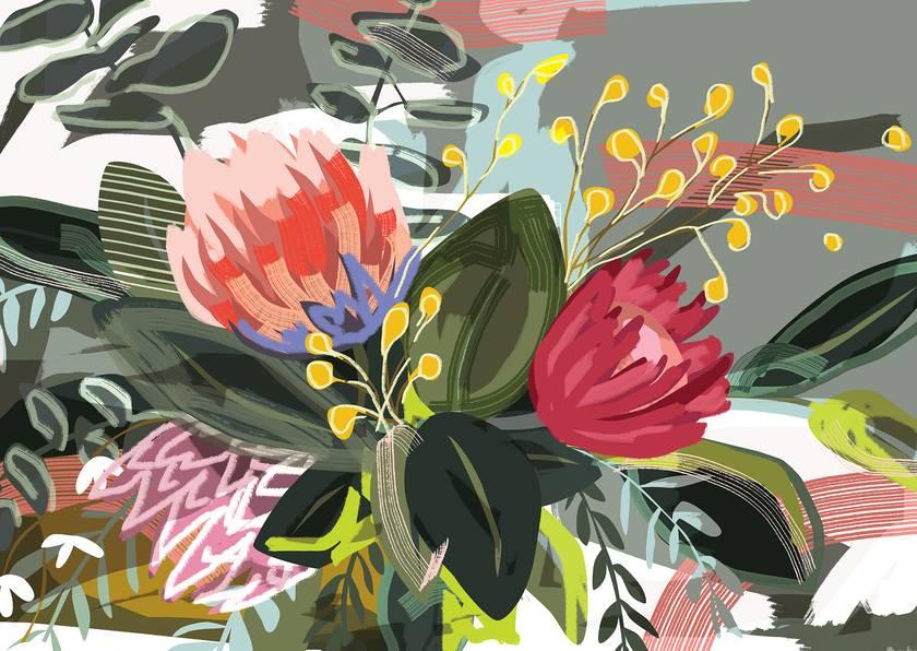 A3 Bunch of Flowers — Fine Art Giclee Print