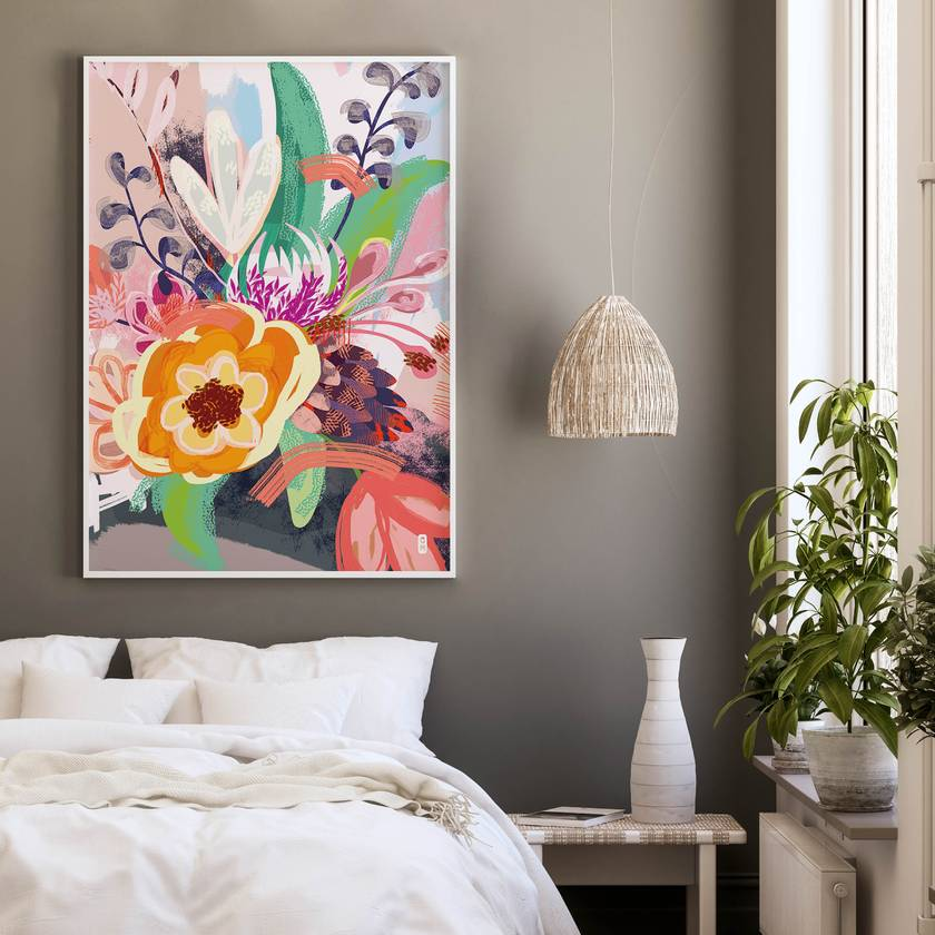 A3 Flower Bouquet — Fine Art Giclee Print
