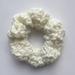 White Hair Scrunchy | Crochet Hair Accessories | Scrunchies