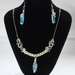 Stirling Silver & Aquamarine Crystal Necklace