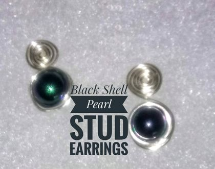 Gem Stone Stud Earrings