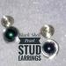 Gem Stone Stud Earrings