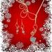 Aquamarine & Gold Necklace Set