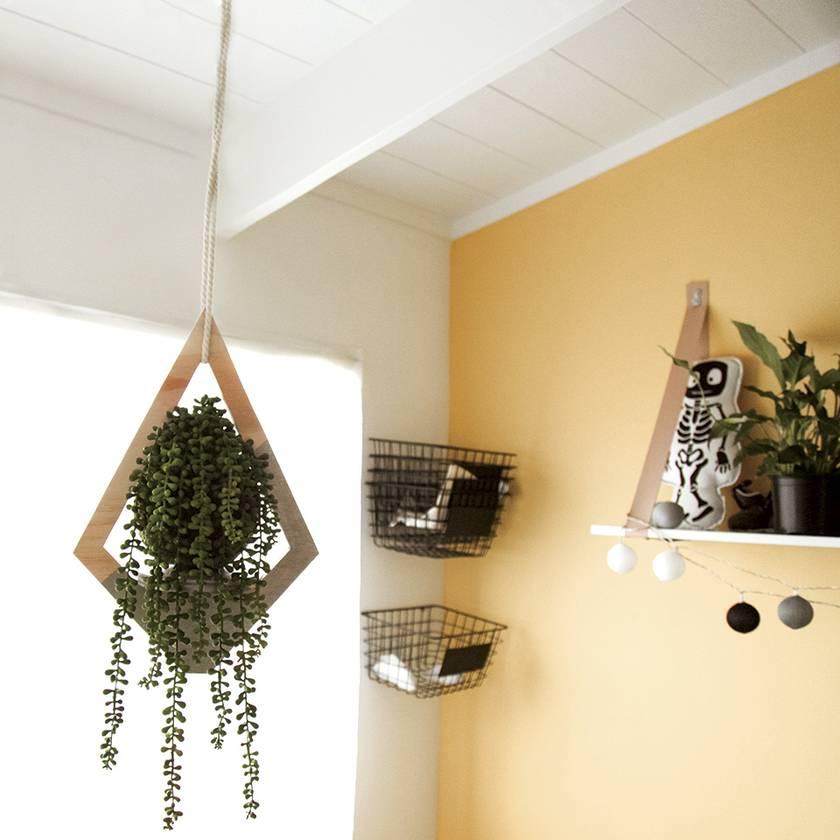 Geometric Hanging Planter - Medium