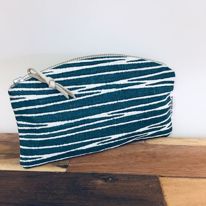 Linen Curved Laneways Pouch