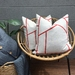 SALE - Junction Linen Cushion Cover - Red