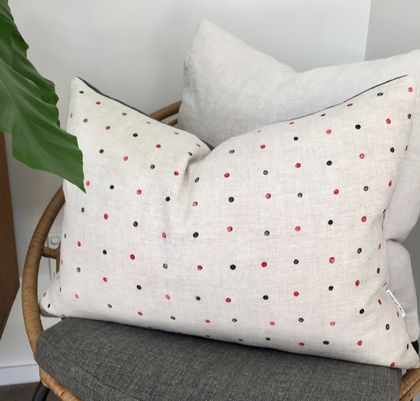 SALE* Hail spot Linen Cushion Cover