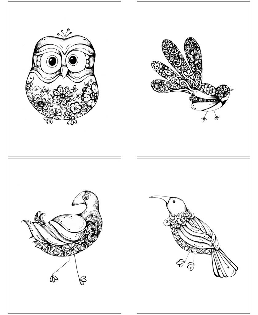 4 pack (1 each of these 4 designs ) premium greeting cards - Freight free.