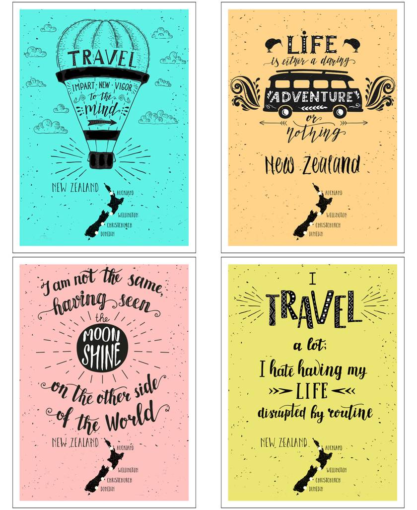 8 Pack 2 Each Of These 4 Designs Premium Greeting Cards Freight