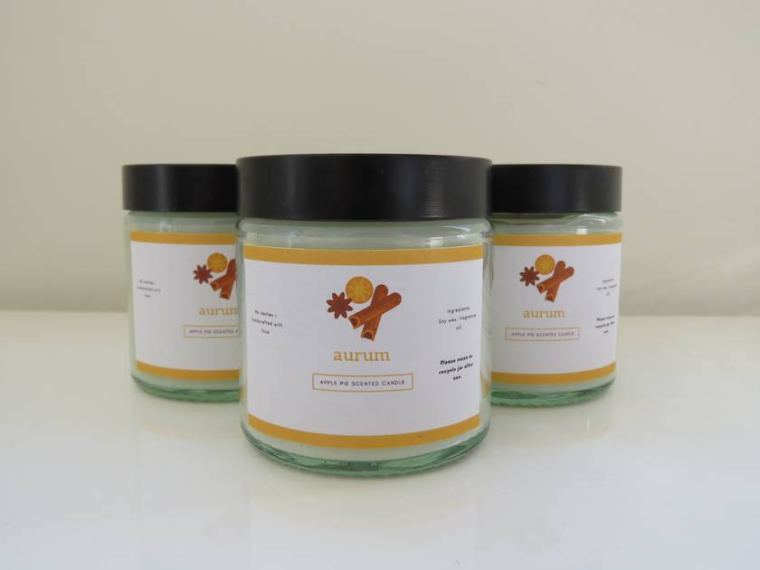 Apple pie scented candle - Aurum