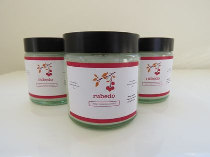 Raspberry scented candle - Rubedo