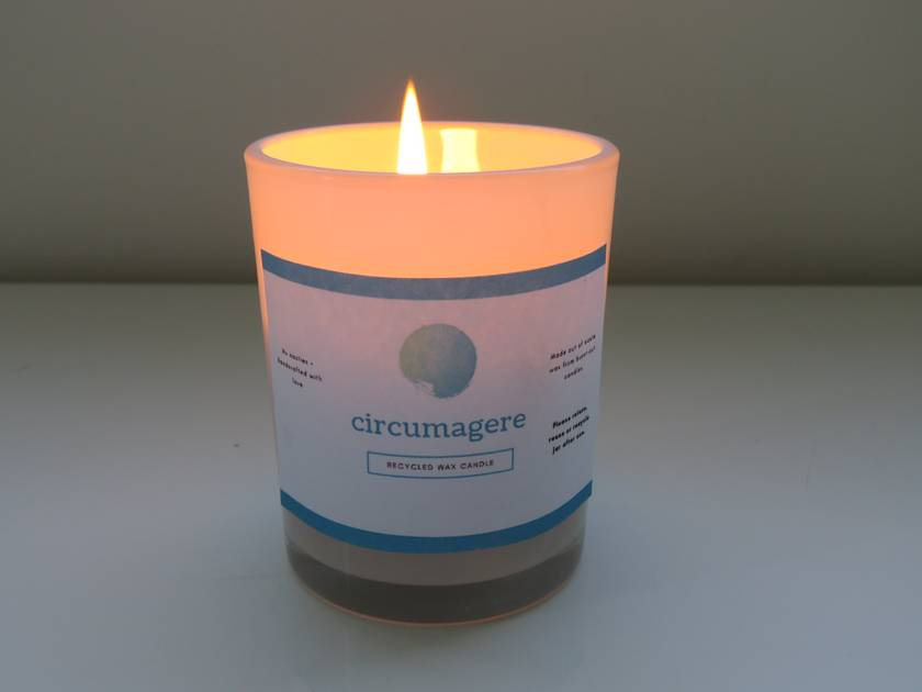 Recycled wax candle - Circumagere
