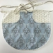 BNWOT Peg Apron Blue & Cream or Brown Floral with Blue Fleur de Lys Fabric