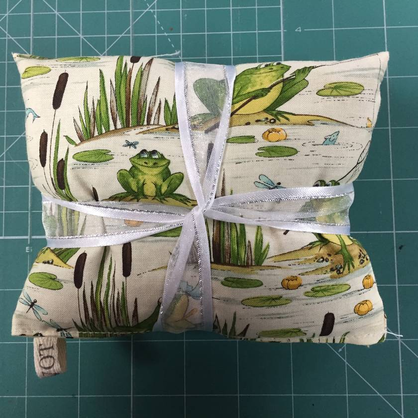 Cream Frogs on Lilly Pads Wheat Bag